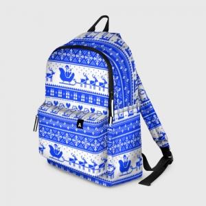 Merch Backpack Among Us Christmas Pattern