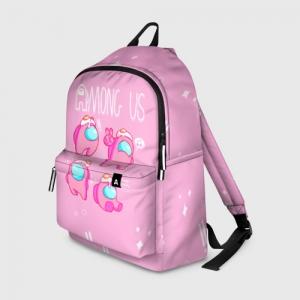 Merch Pink Backpack Among Us Egg Head
