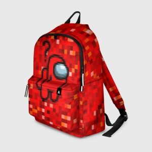Merch Red Pixel Backpack Among Us 8Bit