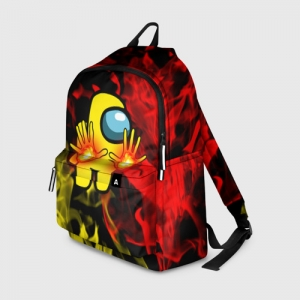 Merch Fire Mage Backpack Among Us Flames