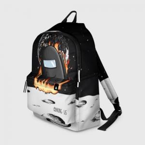Merch Black Backpack Among Us Fire