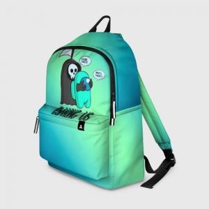 Merch Backpack Among Us Death Behind Cyan