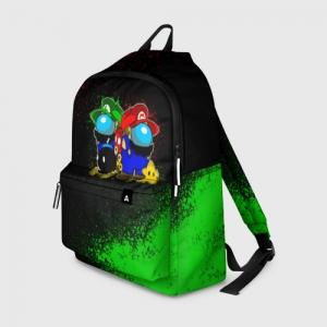 Merch Backpack Among Us Mario Luigi