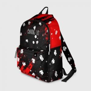 Merch Backpack Among Us Blood Black
