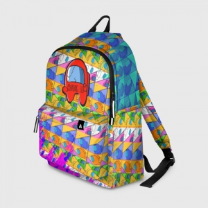 Merch Backpack Among Us Pattern Colored