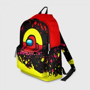Merch Backpack Among Us Impostor Red Yellow