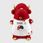 - People 1 Bull Gift 3D Front Red 500 142