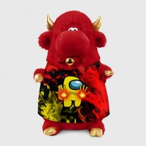 Merchandise Fire Mage Plush Bull Among Us Flames