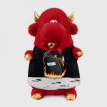 Merch - Black Plush Bull Among Us Fire