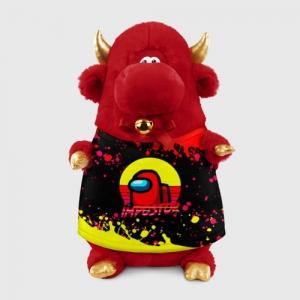 Merchandise Plush Bull Among Us Impostor Red Yellow