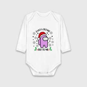 Merchandise Child Cotton Bodywear Santa Seems Sus Among Us