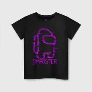 Merchandise Neon Kids Cotton T-Shirt Among Us
