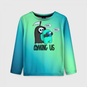 Collectibles Kids Long Sleeve Among Us Death Behind Cyan