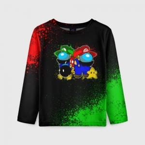 Collectibles Kids Long Sleeve Among Us Mario Luigi