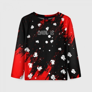 Collectibles Kids Long Sleeve Among Us Blood Black
