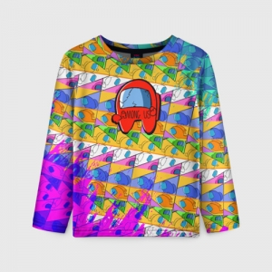 Collectibles Kids Long Sleeve Among Us Pattern Colored
