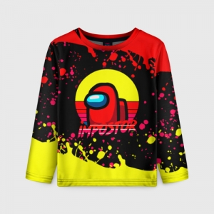Collectibles Kids Long Sleeve Among Us Impostor Red Yellow