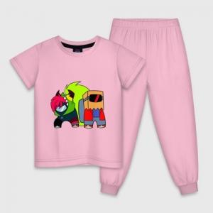 - People 1 Child Pajamas Front Lightpink 500 102