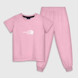 Merch Kids Cotton Pajama Impostor'S Face