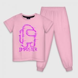 Merch Neon Kids Cotton Pajama Among Us