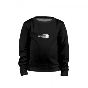 - People 1 Child Sweatshirt Cotton Front Black 500 29