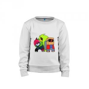 - People 1 Child Sweatshirt Cotton Front White 500 78