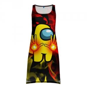 Merchandise Fire Mage Tank-Dress Among Us Flames