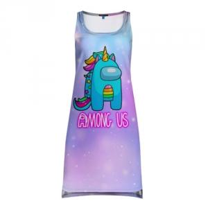 Merchandise Among Us Tank-Dress Rainbow Unicorn