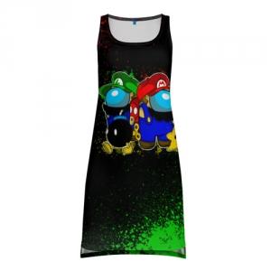 Merchandise Tank-Dress Among Us Mario Luigi