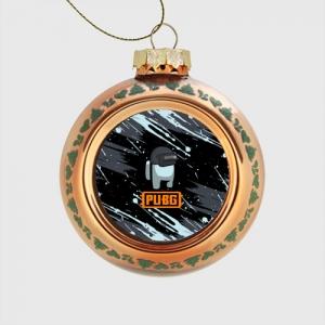 - People 1 Glass Christmas Ball Front Orange 500 40