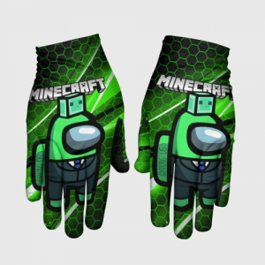 Merchandise Gloves Among Us Х Minecraft