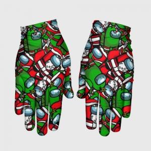 Merchandise Gloves Santa Imposter Among Us