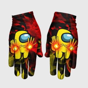 Merchandise Fire Mage Gloves Among Us Flames