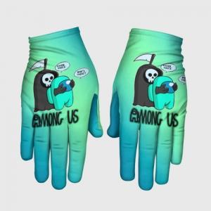Merchandise Gloves Among Us Death Behind Cyan