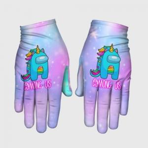 Merchandise Among Us Gloves Rainbow Unicorn