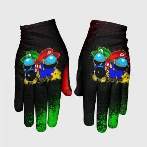 Merchandise Gloves Among Us Mario Luigi