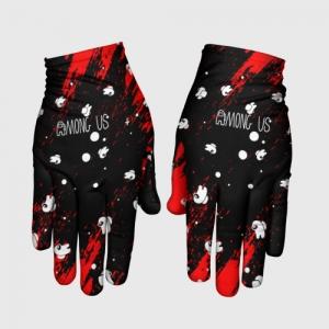 Merchandise Gloves Among Us Blood Black