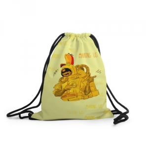 Merchandise Sack Backpack Among Us Yellow Imposter Pointing