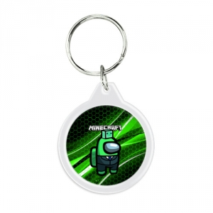 - People 1 Keychain Round Front White 500 139