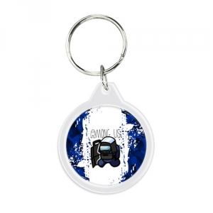 - People 1 Keychain Round Front White 500 141