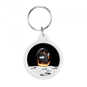 - People 1 Keychain Round Front White 500 144