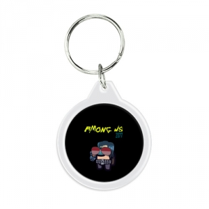 - People 1 Keychain Round Front White 500 145