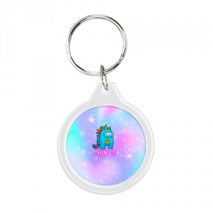 - People 1 Keychain Round Front White 500 148