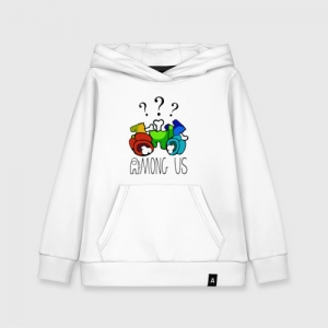 Merchandise Kids Cotton Hoodie Among Us Who Did It?
