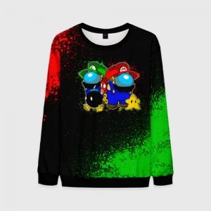 Merchandise Men'S Sweatshirt Among Us Mario Luigi