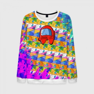 Merchandise Men'S Sweatshirt Among Us Pattern Colored
