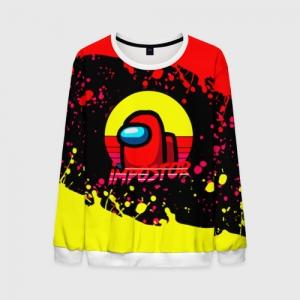 Merchandise Men'S Sweatshirt Among Us Impostor Red Yellow