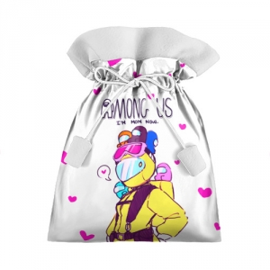 Merchandise Mom Now Gift Bag Among Us White Heart Emoji