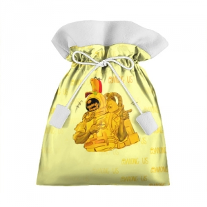 Merchandise Gift Bag Among Us Yellow Imposter Pointing