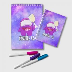 Merch - Notepad Among Us Imposter Purple
